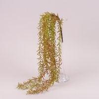 Ветка декоративная свисающая зелено-бордовая 80 см. 72315