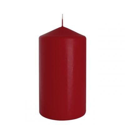 Фото Свеча цилиндр Bispol 8х15 см. бордовая 27417