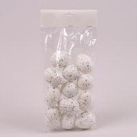 Яйця декоративні білі для великодніх композицій 5х7 см. (12 шт.) 44112