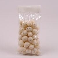 Яйця декоративні бежеві для великодніх композицій 3,5х4,5 см. (48 шт.) 44115