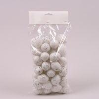 Яйця декоративні білі для великодніх композицій 3,5х4,5 см. (48 шт.) 44116