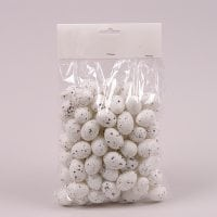 Яйця декоративні білі для великодніх композицій 2,5х3,5 см. (96 шт.) 44119