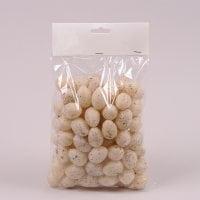 Яйця декоративні бежеві для великодніх композицій 2,5х3,5 см. (96 шт.) 44120