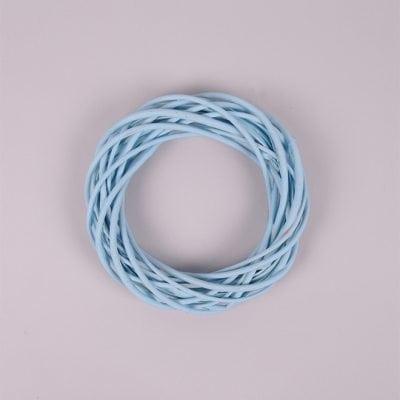 Фото Вінок з лози блакитний 20 см. 39067