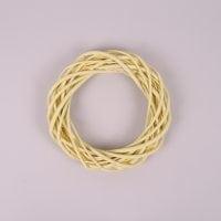Вінок з лози жовтий 20 см. 39068