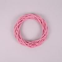 Вінок з лози рожевий 20 см. 39069