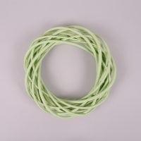 Вінок з лози світло-зелений 25 см. 39074