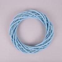 Вінок з лози блакитний 30 см. 39075