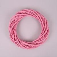 Вінок з лози рожевий 30 см. 39077