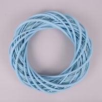 Вінок з лози блакитний 35 см. 39079