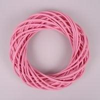 Вінок з лози рожевий 35 см. 39081