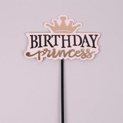 """Фото Топер пластиковий """"Birthday Princess"""" рожевий 33022"""