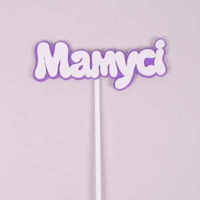 """Фото Топер пластиковий """"Мамусі"""" на фіолетовому фоні 33024"""