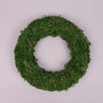 Фото Вінок декоративний з моху 29 см. 44131