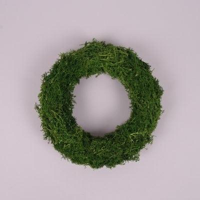 Фото Вінок декоративний з моху 22 см. 44132