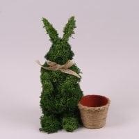 Заєць декоративний з моху 35 см. 44134