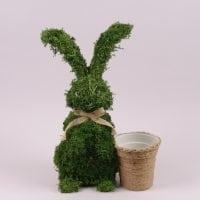 Заєць декоративний з моху 45 см. 44135