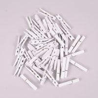 Прищепки декоративні білі 7 см. (50 шт.) 44162