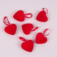 Подвеска декоративная Сердце 6 шт. 44167