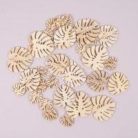 Декорація дерев'яна Листя Монстери мікс 30 шт. 44215