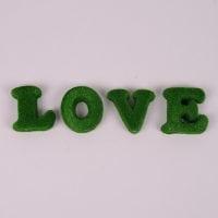 "Надпись декоративная ""Love"" зеленая 44188"