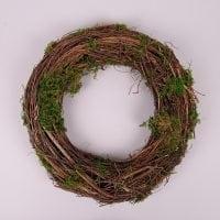 Вінок декоративний з мохом 35 см. 44226