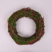 Вінок декоративний з мохом 30 см. 44228