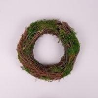 Вінок декоративний з мохом 24 см. 44227
