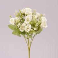 Букетик Троянд білий 30 см. 72311