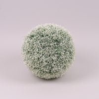Шар декоративный бело-зеленый D-26 см. 72335