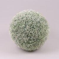 Шар декоративный бело-зеленый D-34 см. 72336