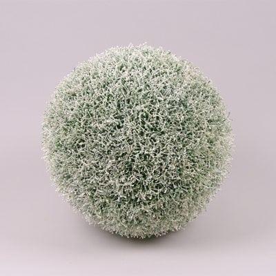 Фото Шар декоративный бело-зеленый D-34 см. 72336