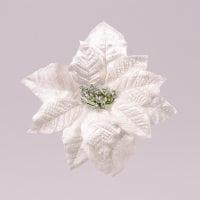 Цветок новогодний Пуансетия кремовый 75693