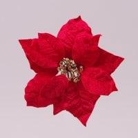 Цветок новогодний Пуансетия красный 75694