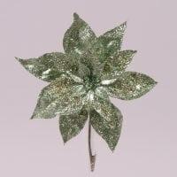 Цветок новогодний Пуансетия зеленый 75698