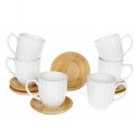 Набір фарфорових чашок з підставками Naturel 150 мл. (6 шт.) 31925