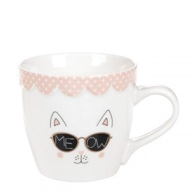 Чашка фарфоровая Мяу 0,35 л. 31974