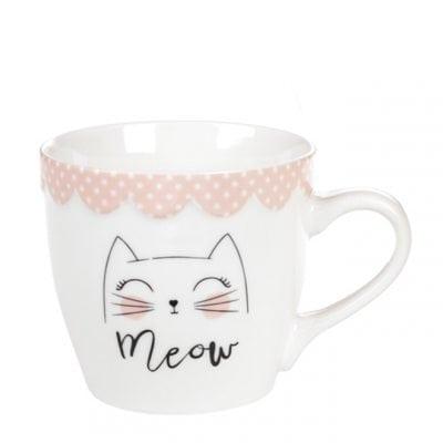 Чашка фарфоровая Мяу 0,35 л. 31975