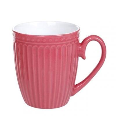 Чашка керамическая розовая 0,36 л. 31982