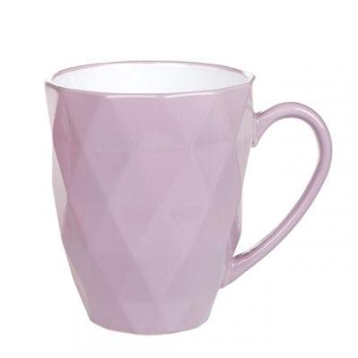 Чашка керамическая Ромб фиолетовая 0,53 л. 31991