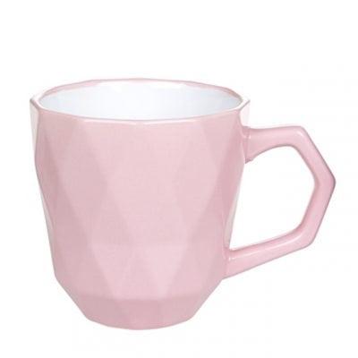 Чашка керамическая Ромб розовая 0,35 л. 31994
