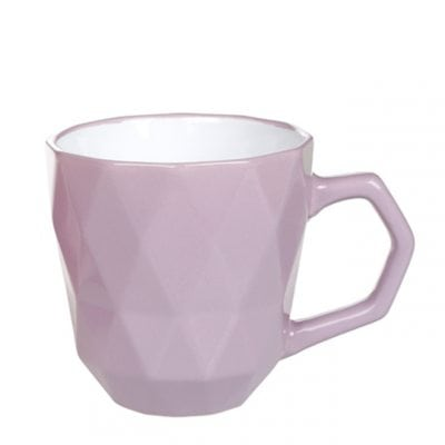 Чашка керамическая Ромб фиолетовая 0,35 л. 31996