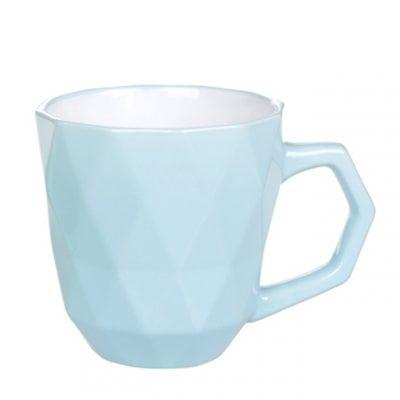 Чашка керамическая Ромб голубая 0,35 л. 31998