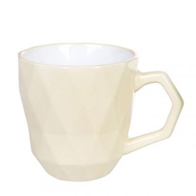 Чашка керамическая Ромб желтая 0,35 л. 31999