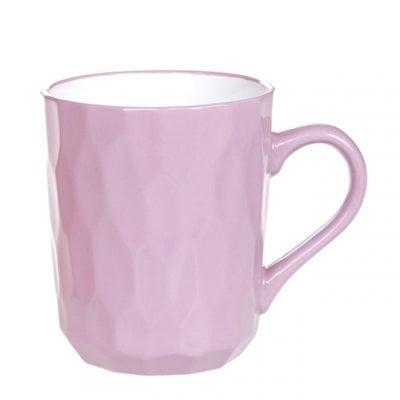 Чашка керамическая Пастораль фиолетовая 0,35 л. 32001