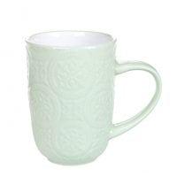 Чашка керамическая Дамаск зеленая 0,4 л. 32007