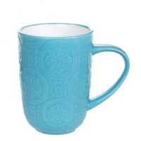 Чашка керамическая Дамаск бирюзовая 0,4 л. 32008
