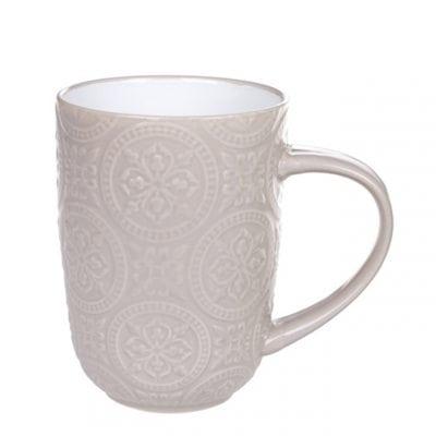 Чашка керамическая Дамаск бежевая 0,4 л. 32009