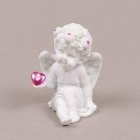 Ангел керамічний у віночку з сердечком 26900