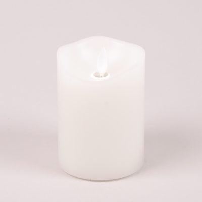 Фото Свеча LED белая D-7,5 см. H-10 см. 26907
